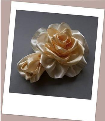 Роза из атласной ленты. Мастер-класс