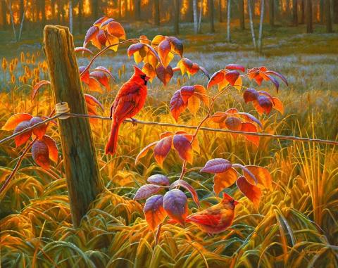 Животные и осень в живописи