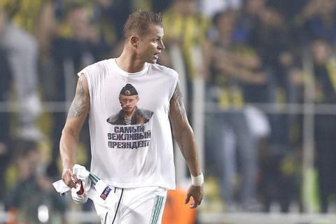 «Локомотиву» грозит наказание за футболку с изображением Владимира Путина