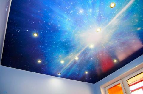 Натяжной потолок Звездное не…