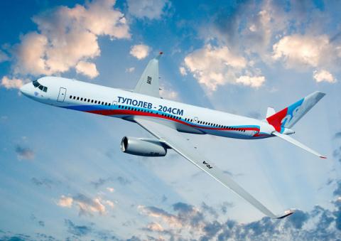 Новый пассажирский авиалайнер Ту-204СМ не уступает современным европейским и американским самолетам