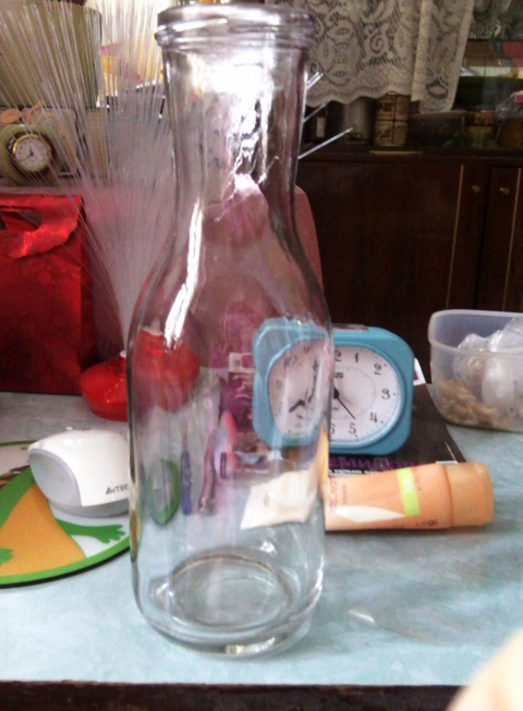 Моя бутылочка....и что получилось после некоторых дороботок!