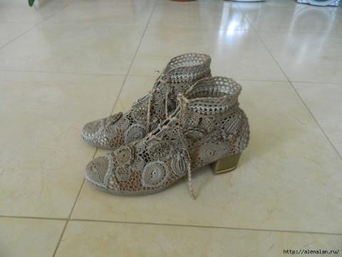 Обувь крючком - ручная работ…