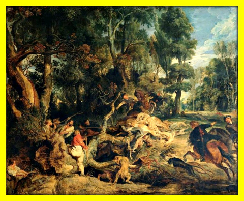 Охота на кабана.Ок.1618-1620гг.