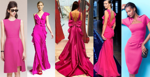 С чем носить платье цвета фуксии: 25 дерзких образов