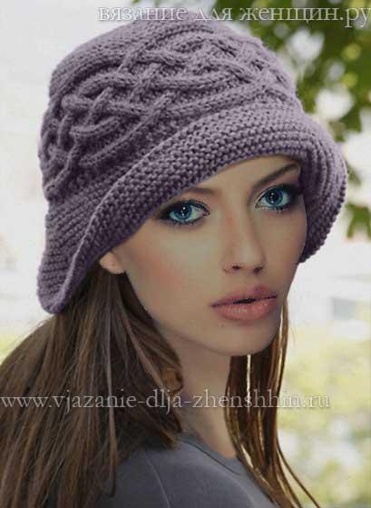 Вязание спицами шляпки с арановыми узорами