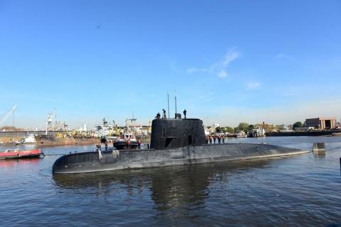 Военно-морские силы Аргентины получили семь сигналов с пропавшей подлодки