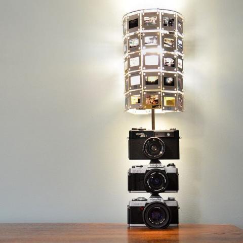 МАСТЕРИЛКА. Светильник из старых фотоаппаратов и слайдов