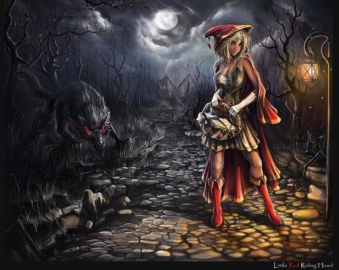 Серый волк ( недобрая сказка)