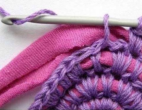 Коврики из полосок ткани крючком