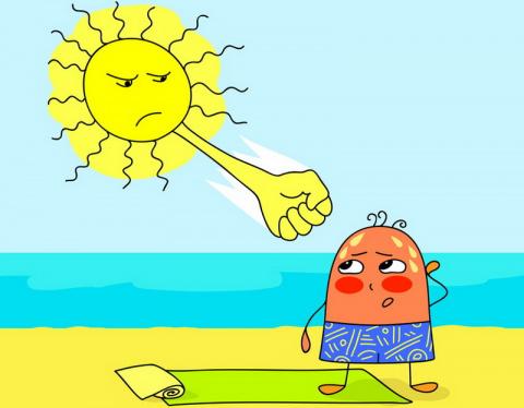 Солнечный и тепловой удар. Признаки и первая помощь
