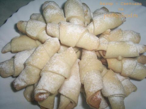 Печенье-трубочки с курагой..