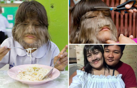 Самая волосатая девушка в мире из Таиланда вышла замуж