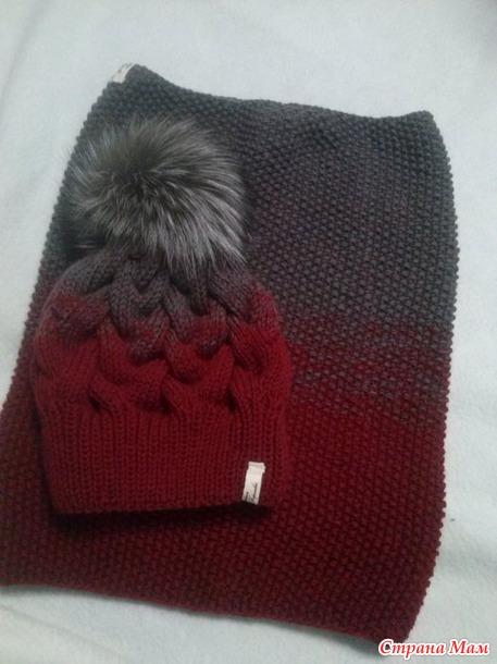 Вяжем теплые комплекты - шапка и снуд