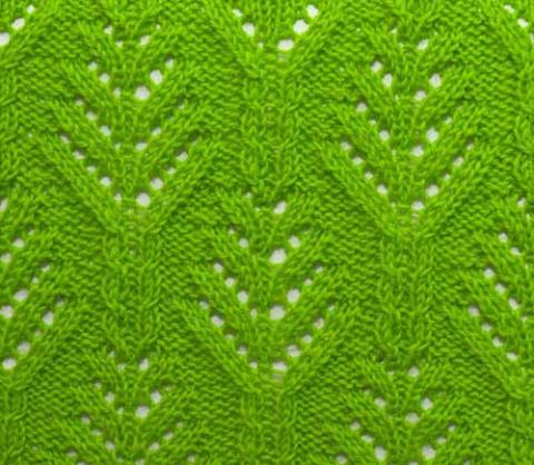 ажурные растительные узоры спицами