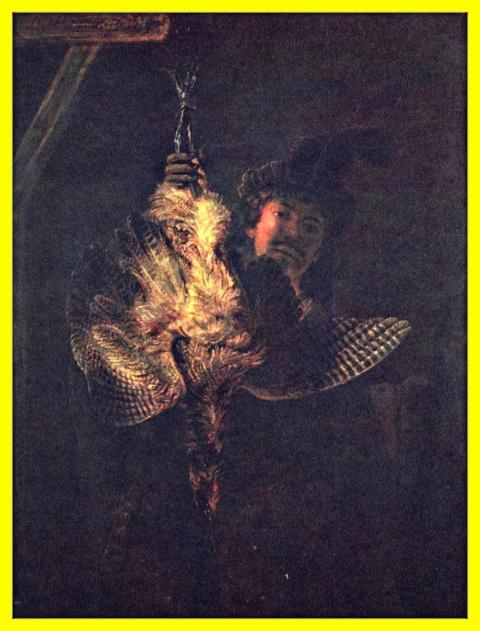 Автопортрет в образе охотника с выпью.1639г.