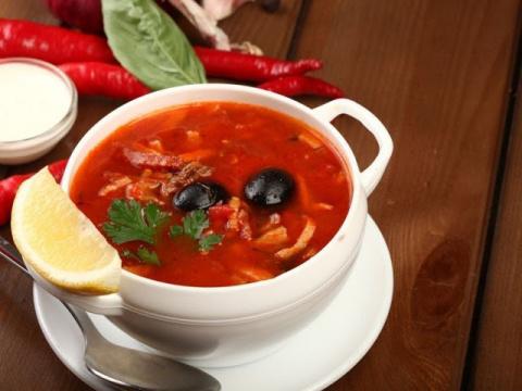 Традиционное русское блюдо: Солянка