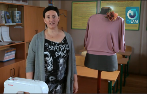 Оригинальная блуза из круга. МК+выкройка