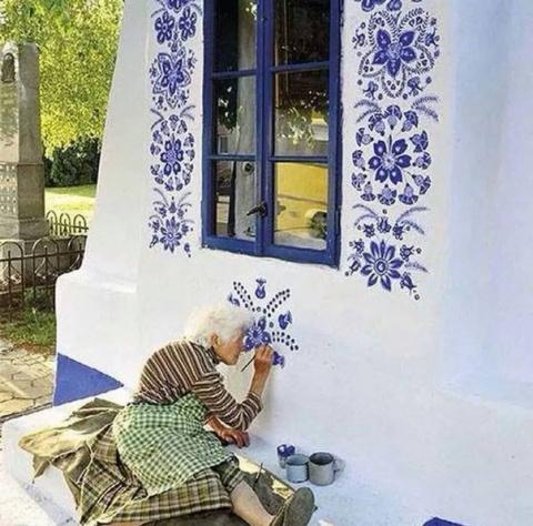 Граффити-арт бабушки Анежки …