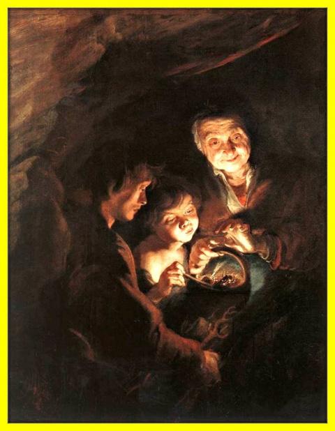 Старуха с жаровней.Ок.1616-1618гг.