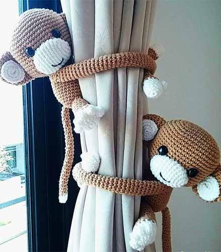 подхват для штор обезьянка