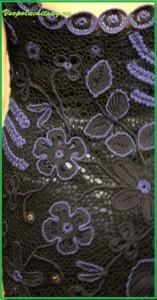 Черно - синее платье