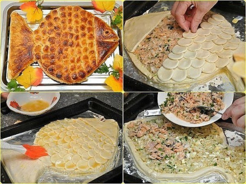 Пирог «Золотая рыбка»