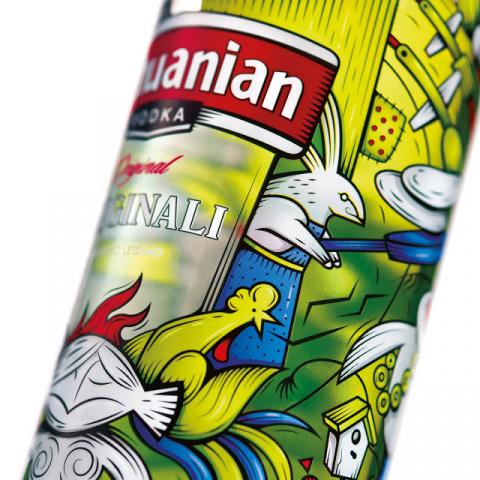 Весенняя водка в литовском дизайне