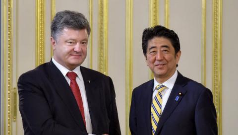 Президент Украины обсудил с премьером Японии вопросы безопасности