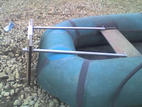 Самодельный транец для резиновой лодки