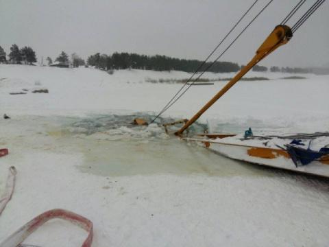 В Иркутске, под лёд провалил…