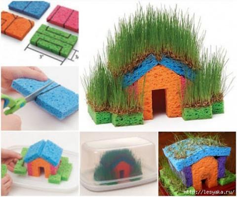 Детская территория. Мастерим травяной домик