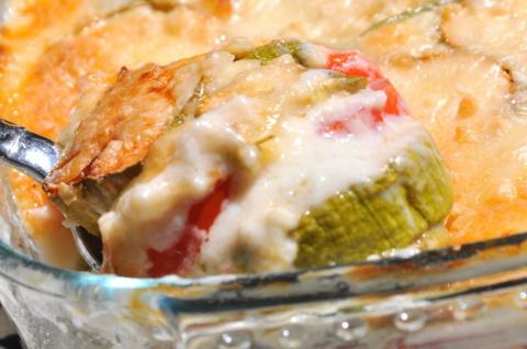 Запеканка из кабачков с соус…