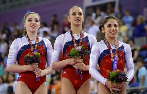 Сборная России вышла на первое место в медальном зачете после третьего дня Европейских игр