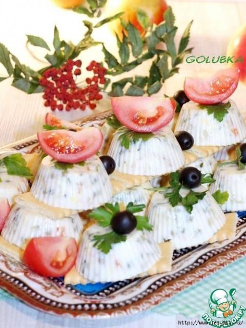 Заливной салат с горбушей