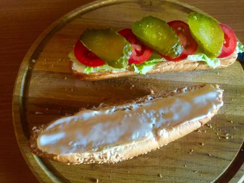 Мой любимый  бутерброд  .  Мой любимый размерчик