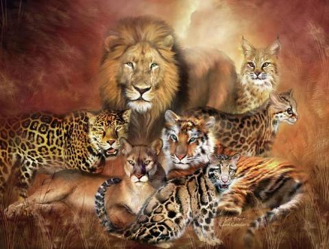 Восхитительные картины животных, или Еще одна грань таланта великолепной Кэрол Каваларис