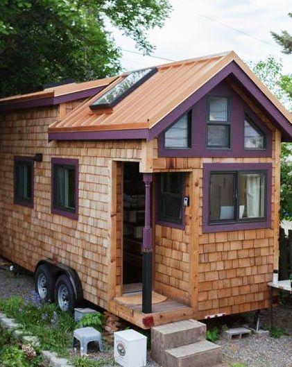 Женщина самостоятельно построила потрясающий дом на колесах, начав буквально с нуля