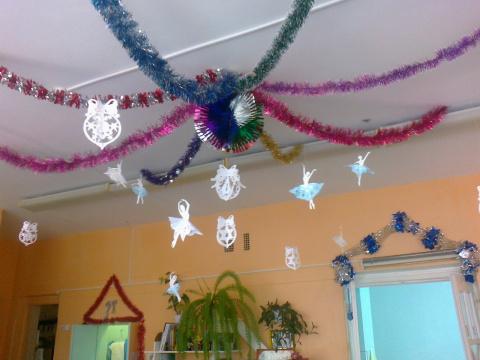 украшение в группе детского сада