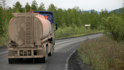 На Урале опрокинулся бензово…