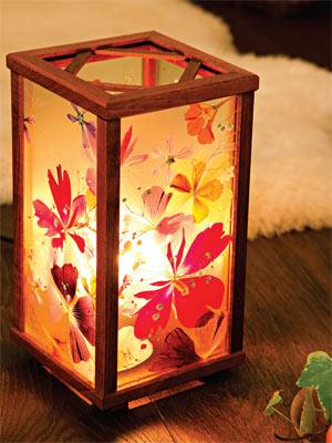 Светильник с цветами своими руками