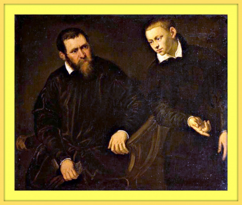 Портрет старика и юноши.
