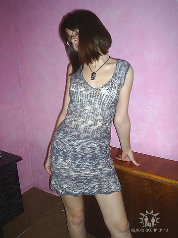 Платье (спицы)