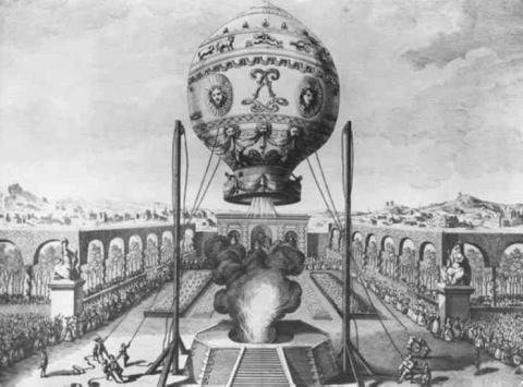 19 сентября 1783 года братья Жозеф и Этьен Монгольфье совершили запуск наполненного горячим дымом воздушного шара в Версале