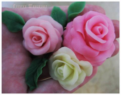 МК по лепке розы, орхидеи из…