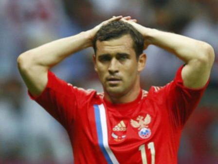 Кержакову, чтобы стать лучшим бомбардиром в истории сборной России, нужно забить еще три гола