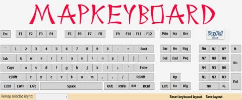 Отключение или замена назначений клавиш на клавиатуре