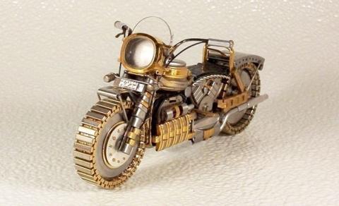 Мотоцыклы из старых часов
