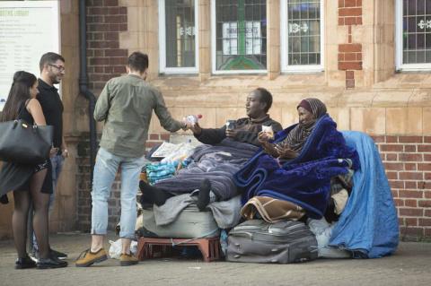В Лондоне беженцы из Сомали …