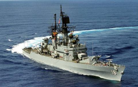Ракеты изрешетили крейсер ВМС США